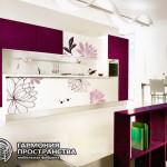 """Кухонный гарнитур """"Кристалл"""" в фиолетовом цвете"""
