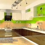 Кухонный гарнитур «Мали» в интерьере-угловая компановка