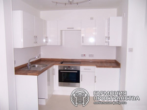The design of a small kitchen