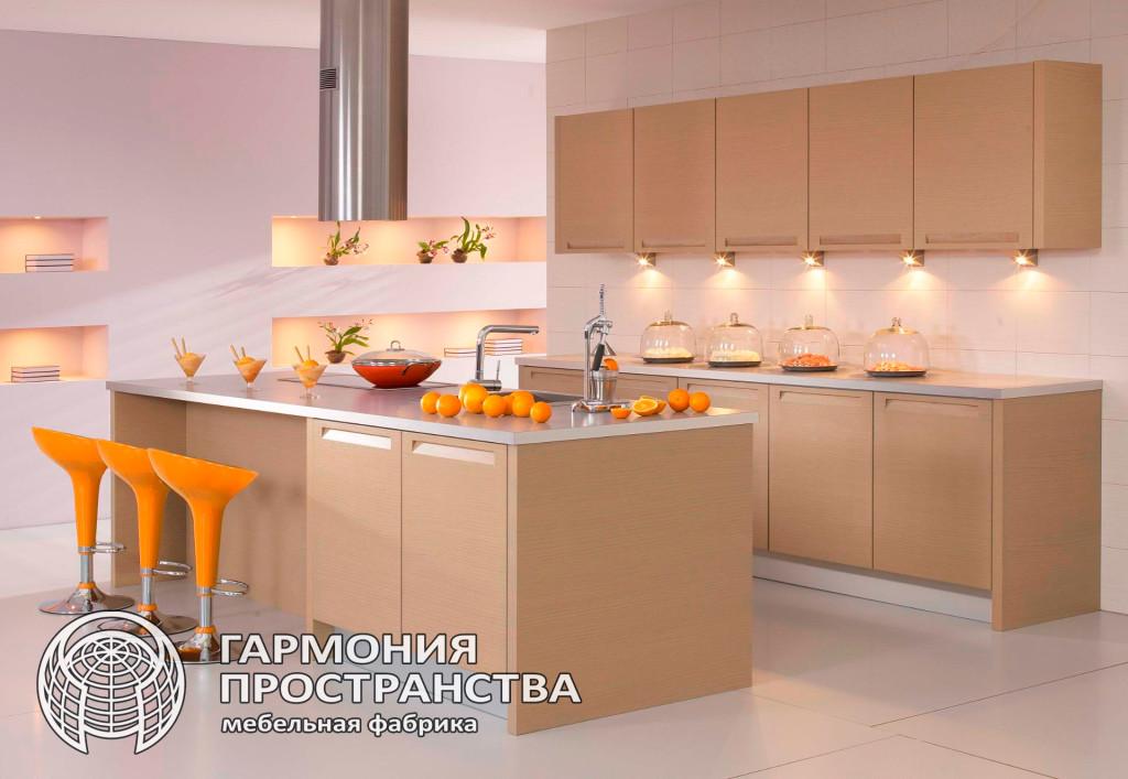 Цвет кухни -бежевая кухня