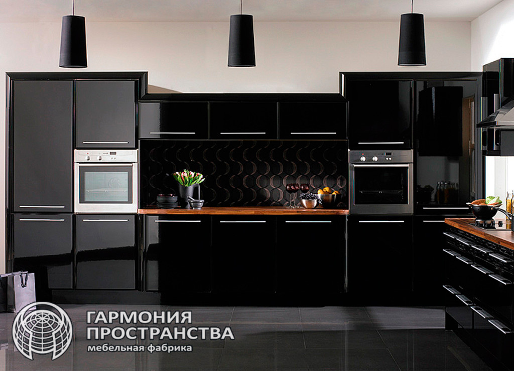 Цвет кухни: черная кухня