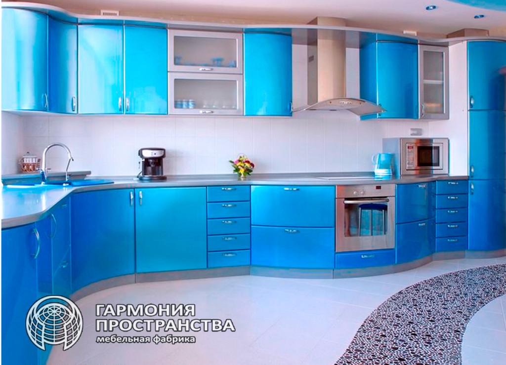 Цвет кухни: голубой