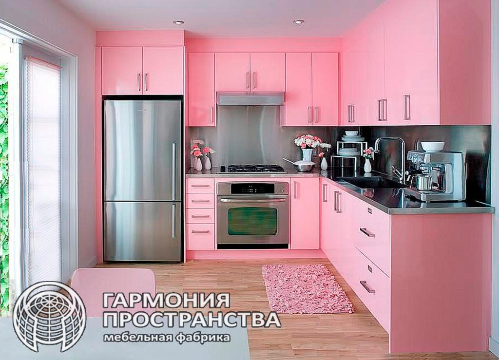 Цвет кухни: розовая кухня
