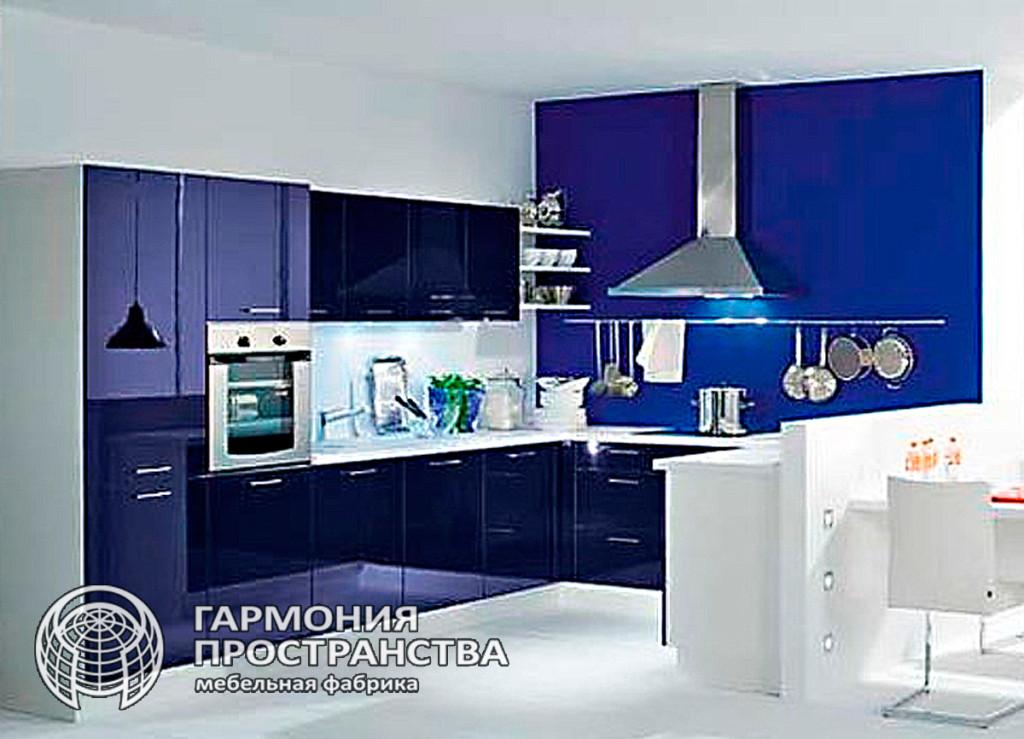 Кухня темно-синего цвета