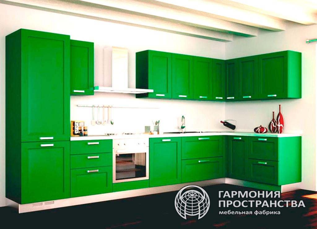 Цвет кухни: зеленый