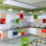 Кухонный гарнитур « Итали » в интерьере - угловая планировка