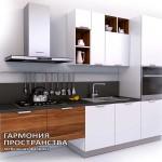Кухонный гарнитур «Эльба» - с закрытыми полками