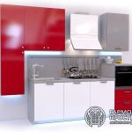Кухонный гарнитур « Рона » - базовая комплектация красная кухня