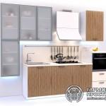 Кухонный гарнитур « Рона » - базовая комплектация со стеклянными полками