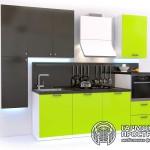 Кухонный гарнитур « Рона » - базовая комплектация зеленая кухня