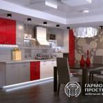 Кухонный гарнитур «Рона» в интерьере Прямая кухня