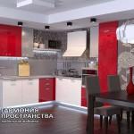 Кухонный гарнитур « Рона » в интерьере Угловая кухня