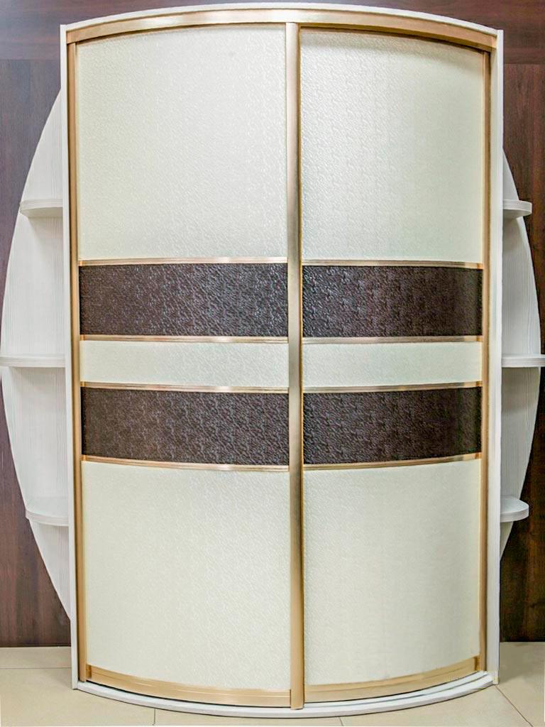 Шкаф-купе белого цвета «Радиус-7»
