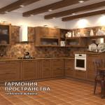 Деревенский стиль кухня «Даллас» в интерьере | Угловая комплектация