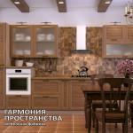 Деревенский стиль кухня «Даллас» в интерьере | Прямая комплектация