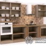 Кухонный гарнитур «Даллас» | Базовая комплектация | Вид изнутри