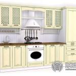 Кухонный гарнитур «Лаура» Стиль ПРОВАНСс желтыми фасадами
