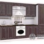 Кухонный гарнитур «Лаура» Стиль ПРОВАНСс коричневыми фасадами