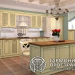 Кухонный гарнитур «Лаура» в интерьере Прямая комплектация