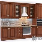 Классическая кухня «Римини»| Базовая комплектация | с коричневыми фасадами