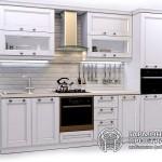 Кухонный гарнитур «Нормандия» Базовая комплектация Белая кухня
