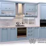Кухонный гарнитур «Номандия» Стиль Кантри с голубыми фасадами