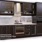 Кухонный гарнитур «Нормандия» Стиль Кантри с коричневыми фасадами