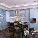 Кухня «Нормандия» в стиле Кантри в интерьере