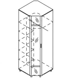 Модуль шкаф угловой с зеркалом «Азалия»