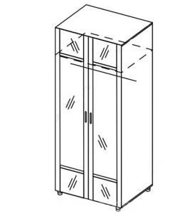 Модуль шкаф универсальный с зеркалом «Азалия»