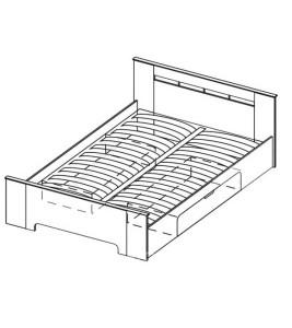 Модуль Кровать 1400 (без матраса, с ортопедическим основанием)