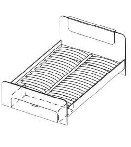 Модуль Кровать 1600 (без матраса, с ортопедическим основанием) «Флоренция»
