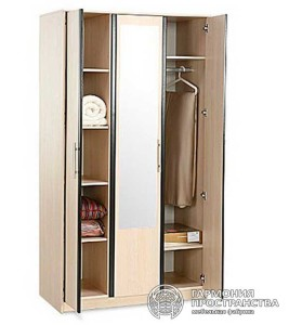 Модуль шкаф трех-створчатый с зеркалом «Равенна»