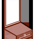 Модуль тумба с зеркалом «София» темная