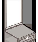 Модуль тумба с зеркалом «София» светлая
