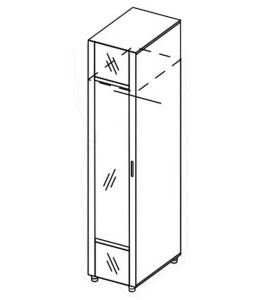 Модуль пенал универсальный с зеркалом «Азалия»