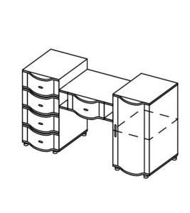 Модуль столик туалетный «Азалия»