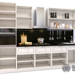 Кухонный гарнитур «Барселона» | Базовая комплектация (вид без фасадов)