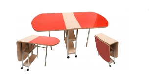 Стол раскладной с овальной крышкой